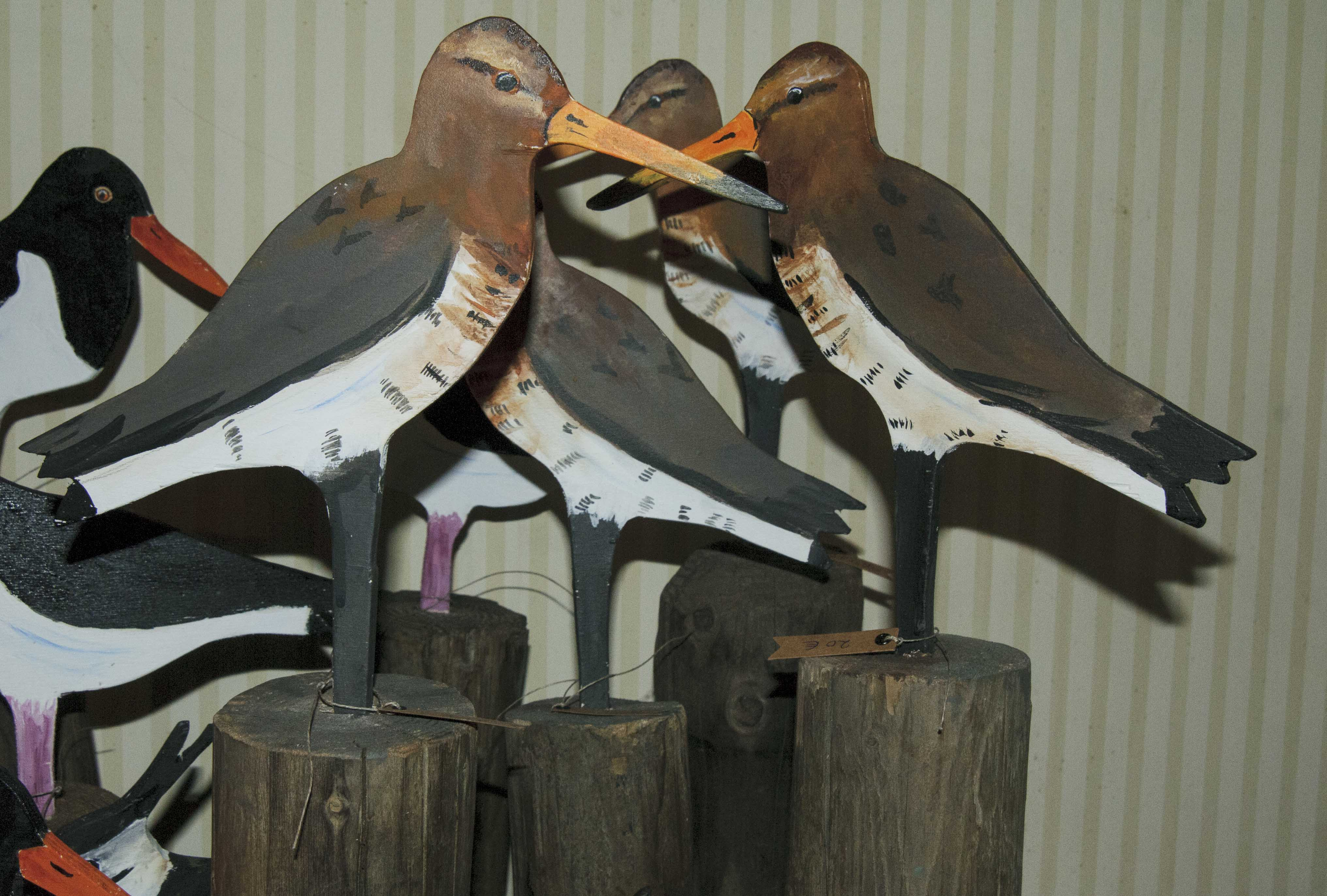 AAK-wooden godwits on pole-3805